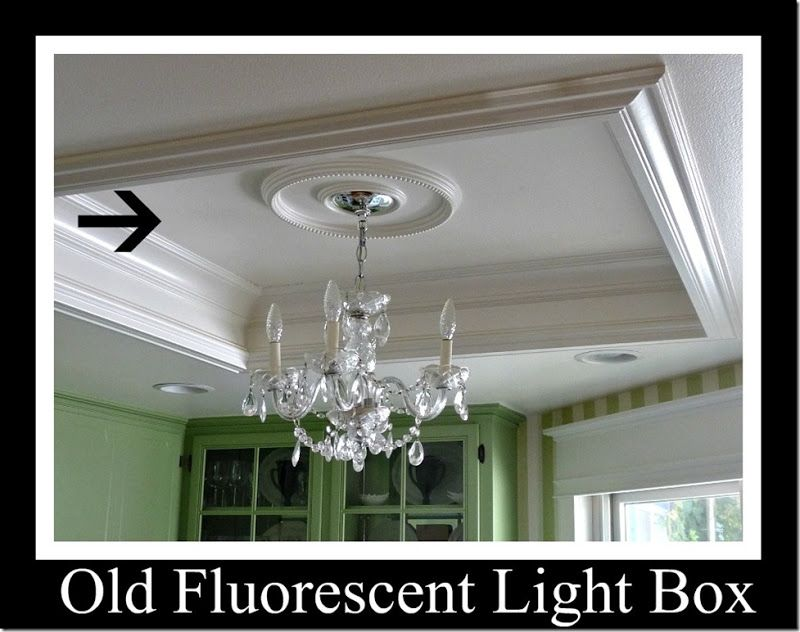 when remove RECESSED fluorescent light box, how to fix... keep the existing  · Tray Ceiling KitchenTray ...