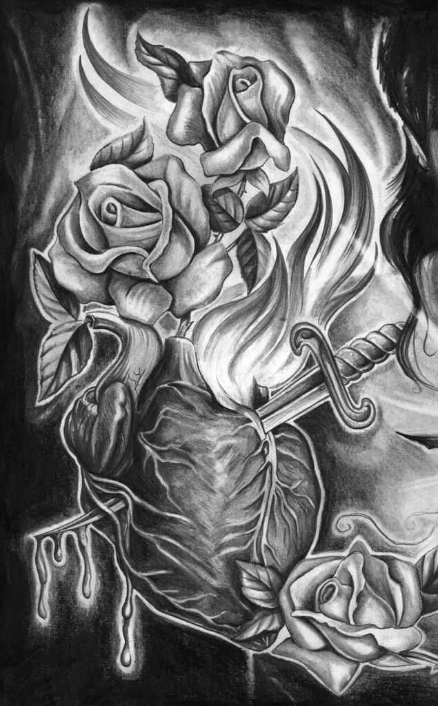 Pencil Drawings Of Tattoos Pin Pencil Art Love Anime Images