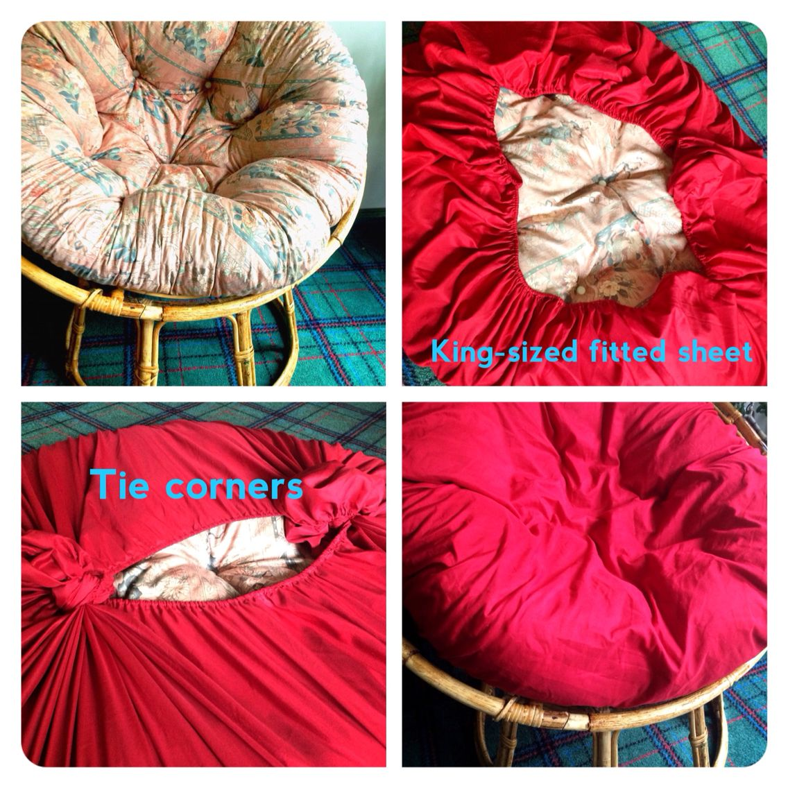 Diy papasan cover no sew magic pinterest papasan Papasan cushion cover