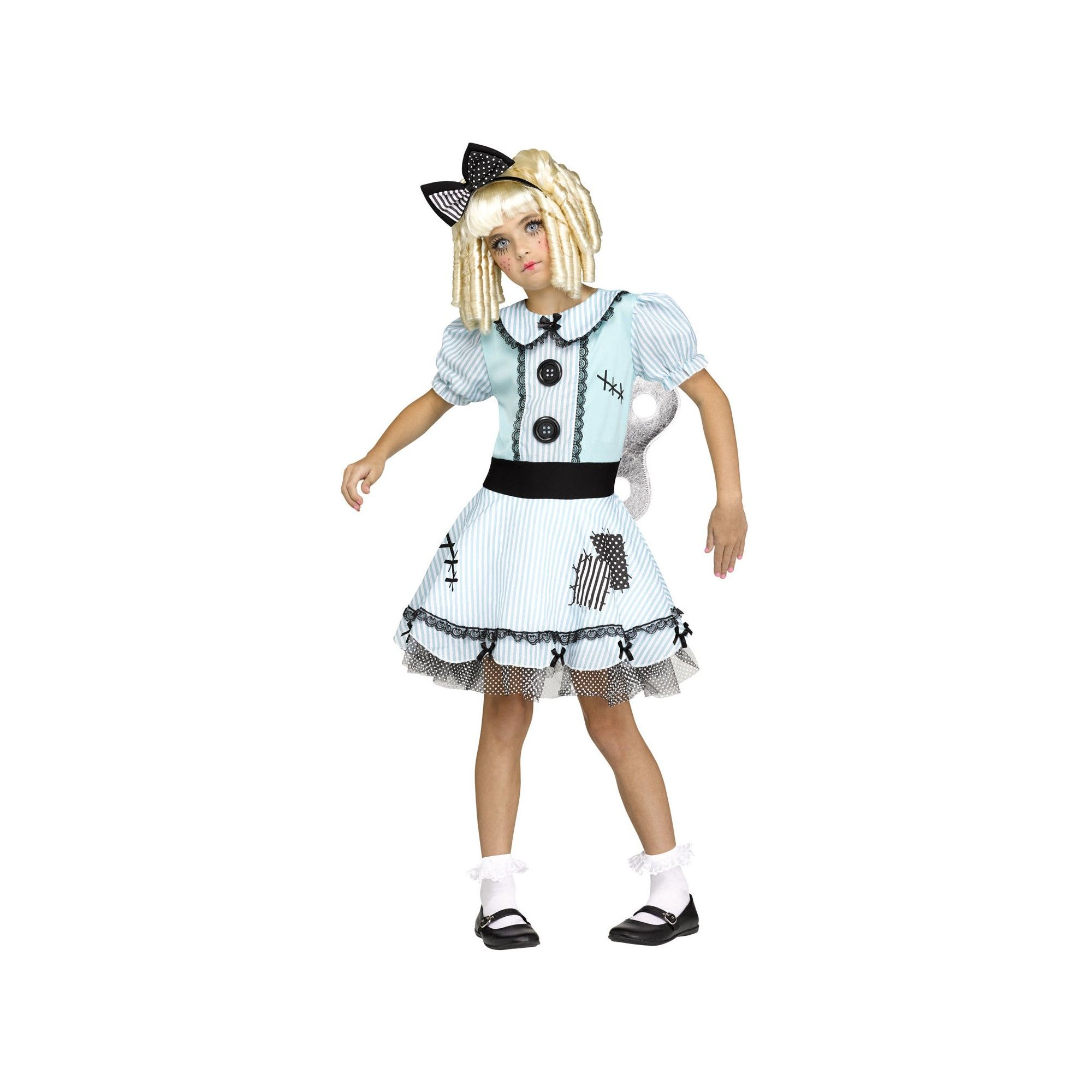 Girls Wind Up Doll Halloween Costume Xl Multicolored Products