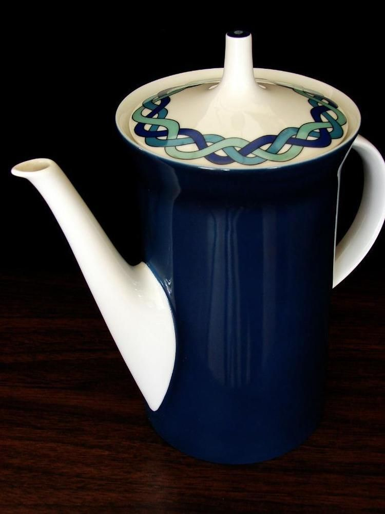 Vintage ROSENTHAL EMILIO PUCCI Coffee Pot China Baumann Studio Linie EVC #4069 #RosenthalPucci
