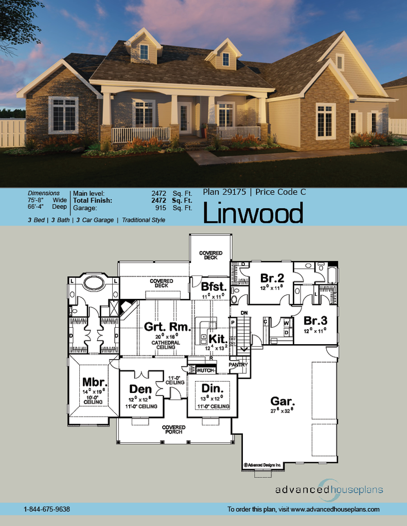 Linwood | First floor master floor plans | Pinterest | Farmhouse ...