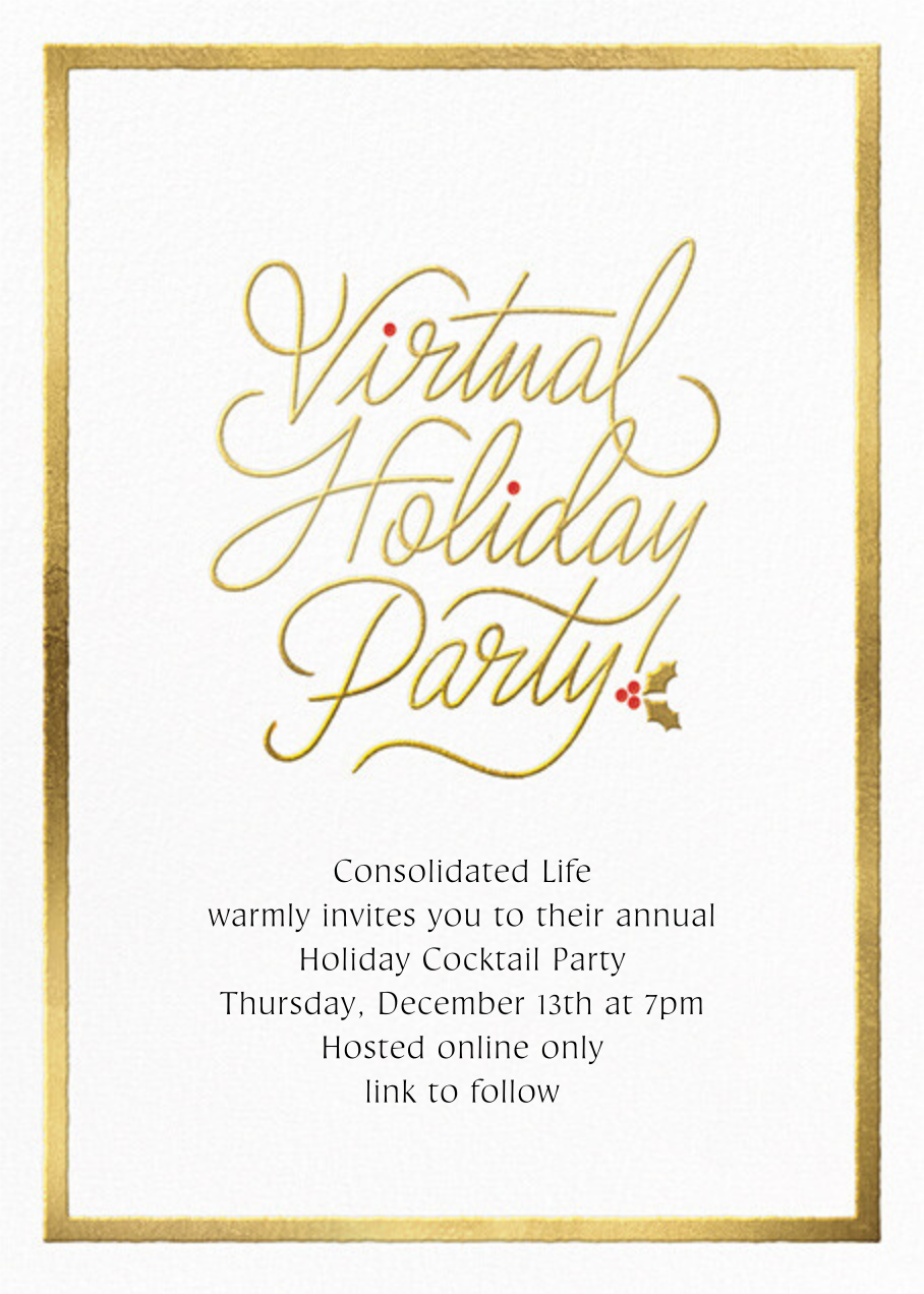 Spirited Script Virtual Rsvp Event By Paperless Post Online At Paperless Post Holiday Party Invitations Holiday Cocktail Party Rsvp