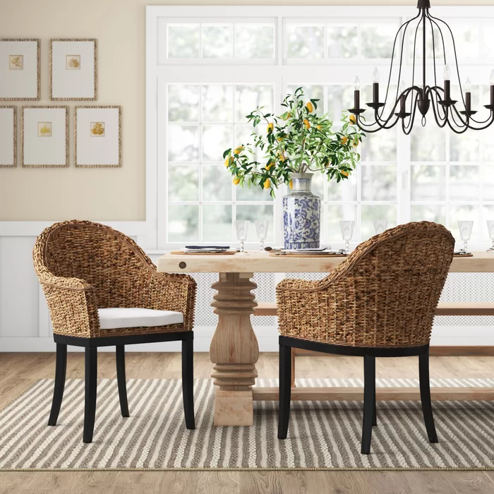 Pin By Teressa Ryan On 2019 Creating Inviting Comfy Home Solid Wood Dining Chairs Dining Chairs Upholstered Arm Chair #side #chairs #with #arms #for #living #room