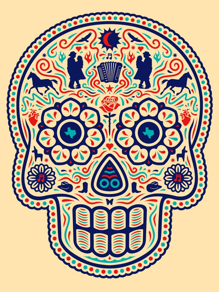 HECHO CON GANAS — Ganas Tex Mex Calavera. For my Tejano lovers.