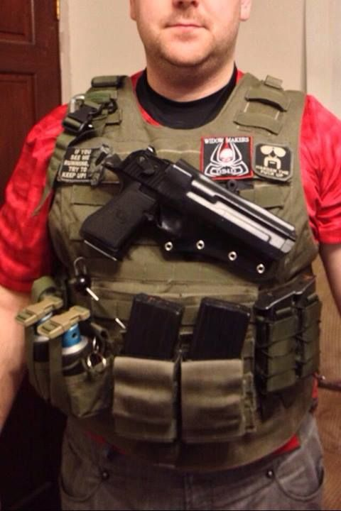 Desert eagle chest rig cross draw kydex holster  idk  I just don't