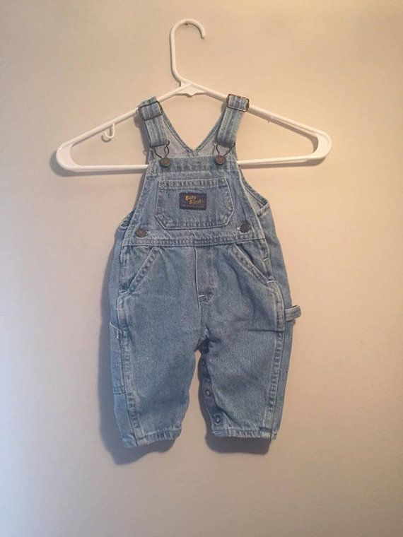 3-6 Month Vintage Baby B'gosh Overalls by AttiqueTreasures on Etsy