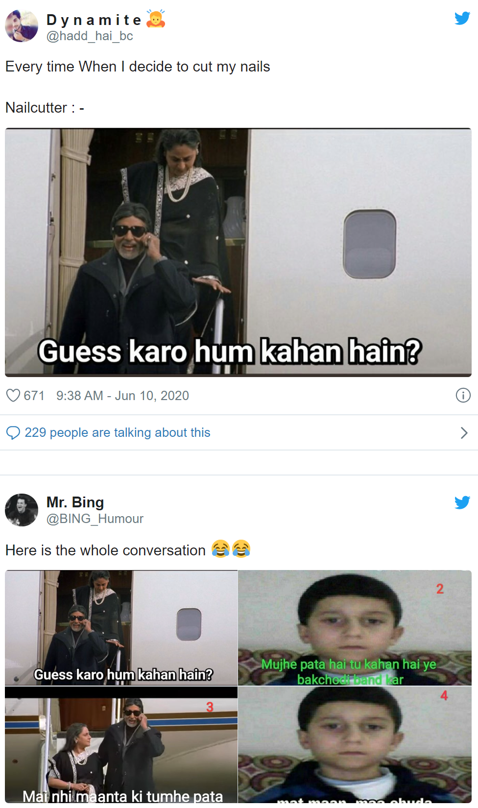 Kabhi Khushi Kabhie Gham Dialog 'Guess Karo Hum Kahan Hai' Returns With Memes