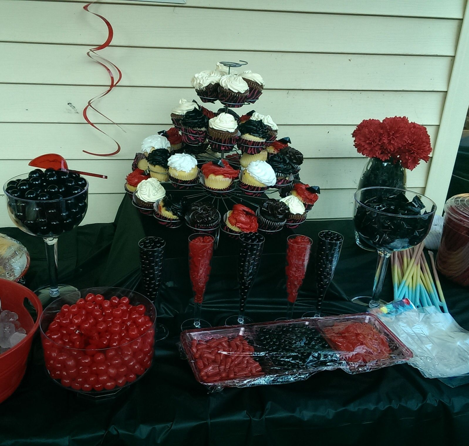 Candy buffet for my daughters prom send off. Party Ideas