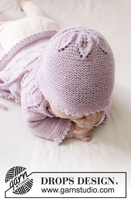 Pink Petals Hat / DROPS Baby 33-14 - Kostenlose Strickanleitungen von DROPS Design #tricotgratuit