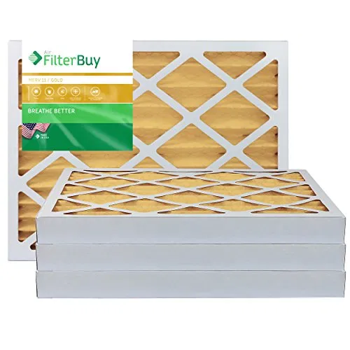 FilterBuy 16x20x2 MERV 11 Pleated AC Furnace Air Filter in