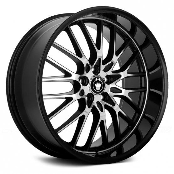 KONIG® - LACE Gloss Black with Mirror Machined Face  http://www.carid.com/konig-wheels/lace-black-machined-465508.html