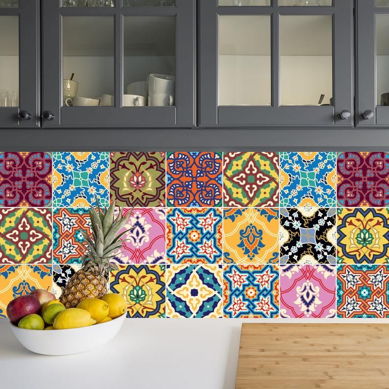 Arabian Tiles Wall Stairs Tile Stickers Removable Etsy In 2020