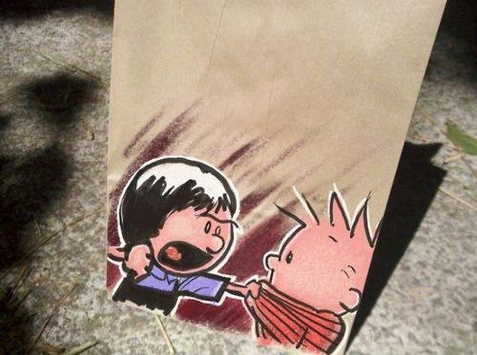 cool, art, interesting, drawings, father of the year, parenting, Awesome Dad Draws Cartoons on Lunch Bags for His Kids