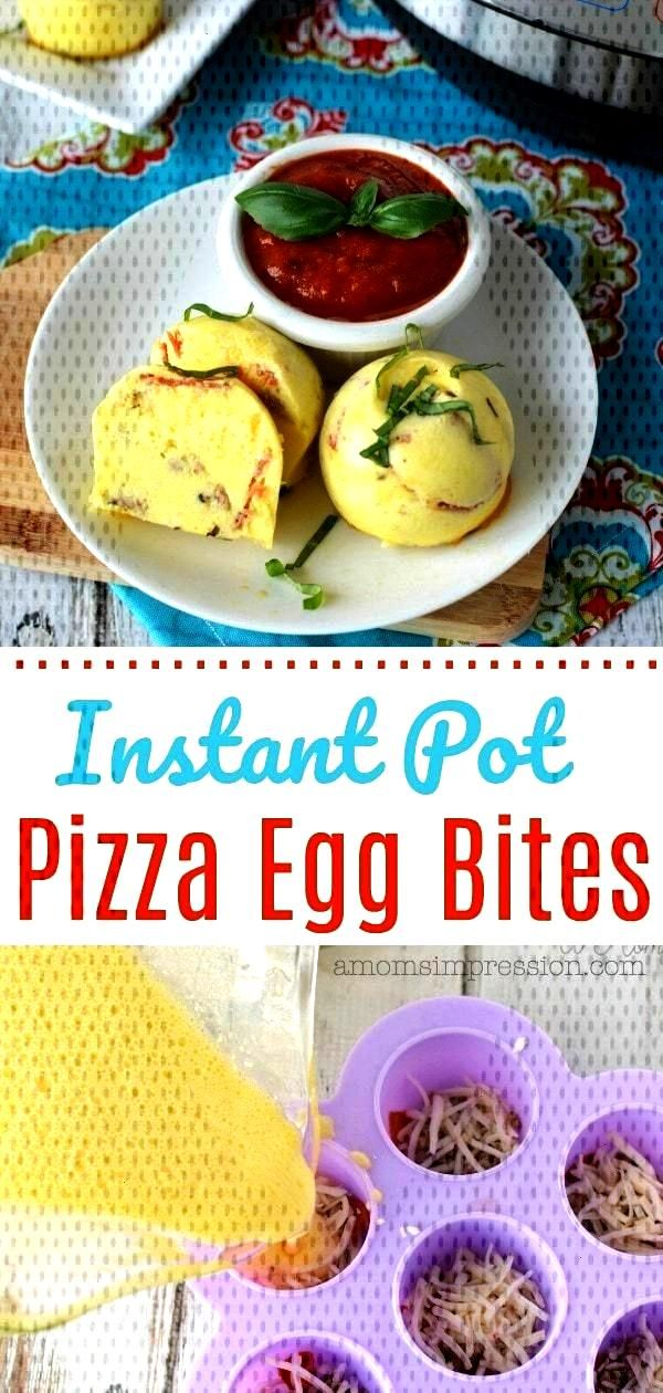 kid-friendly Instant Pot pizza egg bites recipe is amazing! These are perfect for a healthy and tas