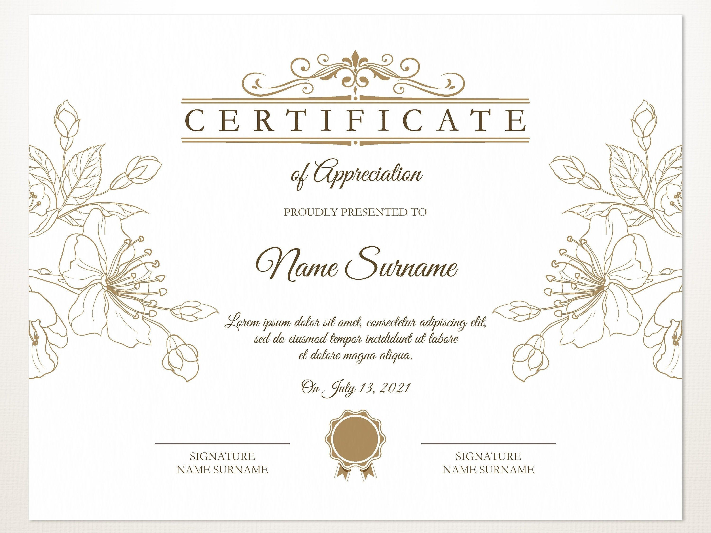 Printable Blank Certificate Template Editable Certificate Etsy Free Printable Certificate Templates Certificate Design Template Blank Certificate Template Open office certificate templates free
