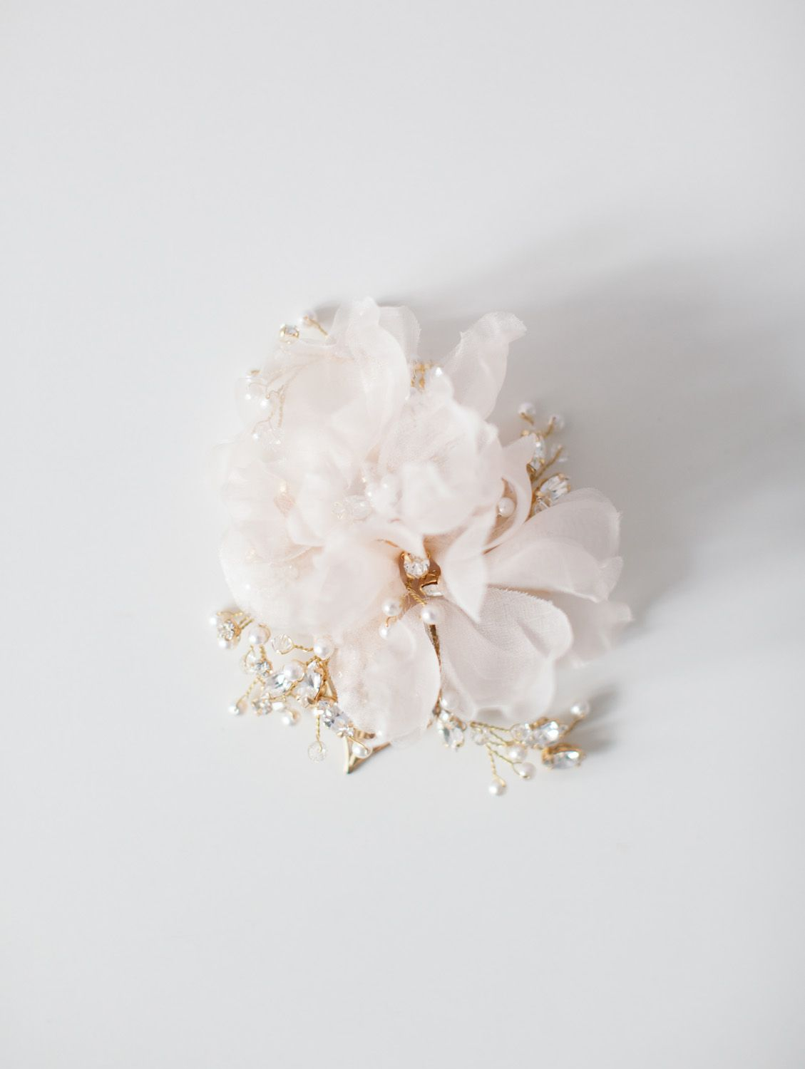Silk Flower Hair Comb Sibo Designs Bridal Adornments Veils