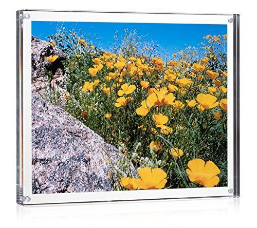 Acrylic Block Picture Frame 8 X 10 Actual Size 9 X 11 For