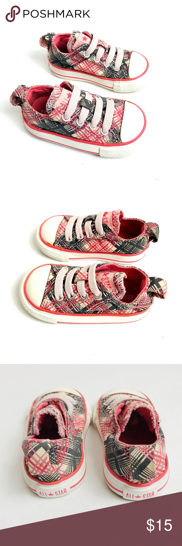 03d8e94eb961 Converse Chuck Taylor Infant Shoes Size 4 Pink Converse Chuck Taylor Infant  Shoes Size 4 Slip on Plaid and checks Pink