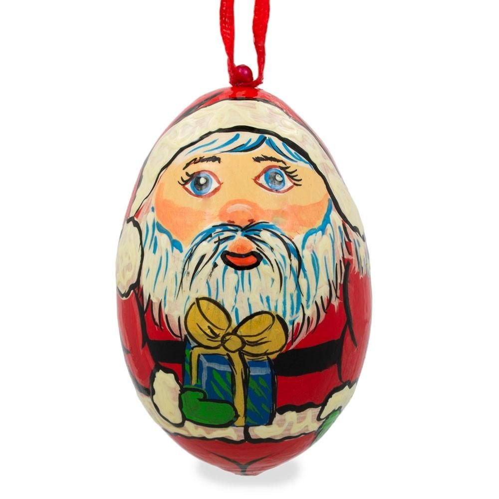 Santa Claus Holiday Wooden Christmas Ornament 3 Inches