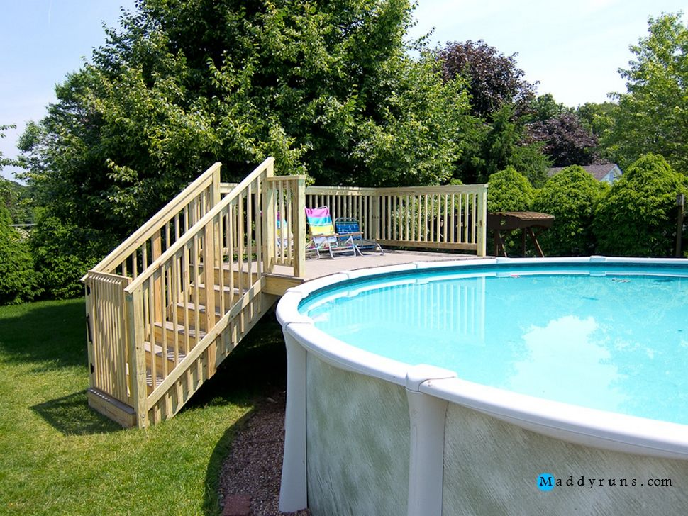 Swimming pool swimming pool ladders for above ground pools ideas rectangular pool steps ladder - Above ground pool steps for decks ...