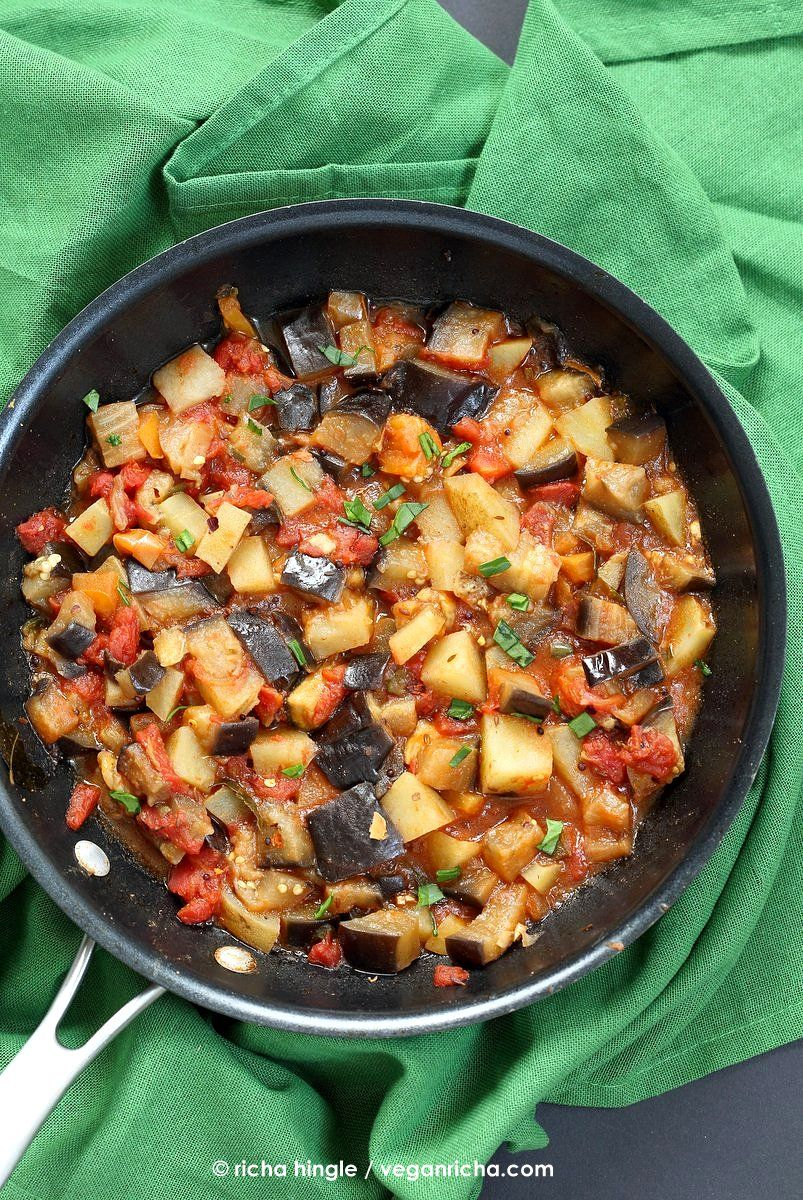 Aloo Baingan Recipe Curried Potato Eggplant