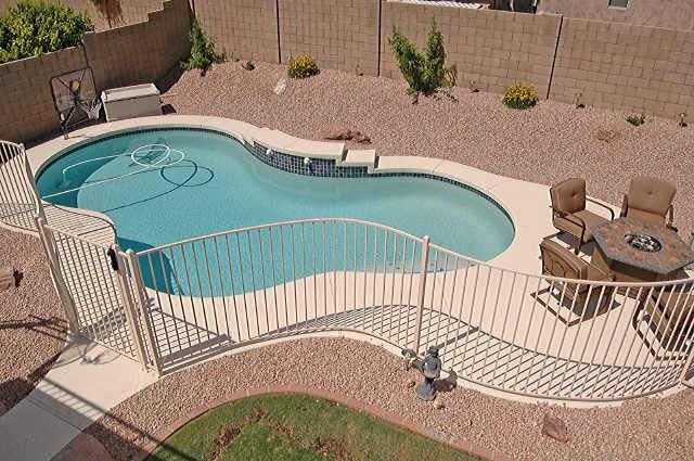 Kidney Shaped Pool Wood And Iron Fence Google Search