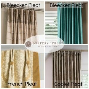 Top 3 Most Popular Drapery Pleat Styles Drapes And Blinds