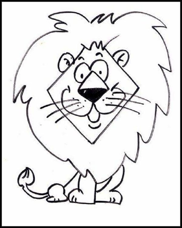simple jungle animal coloring pages zoo preschool. Black Bedroom Furniture Sets. Home Design Ideas