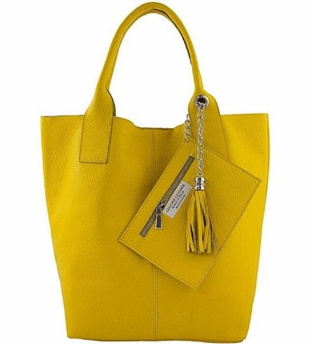 Etasico Carmen Italian Leather Handbag Yellow Hobo Bag Handmade in ...