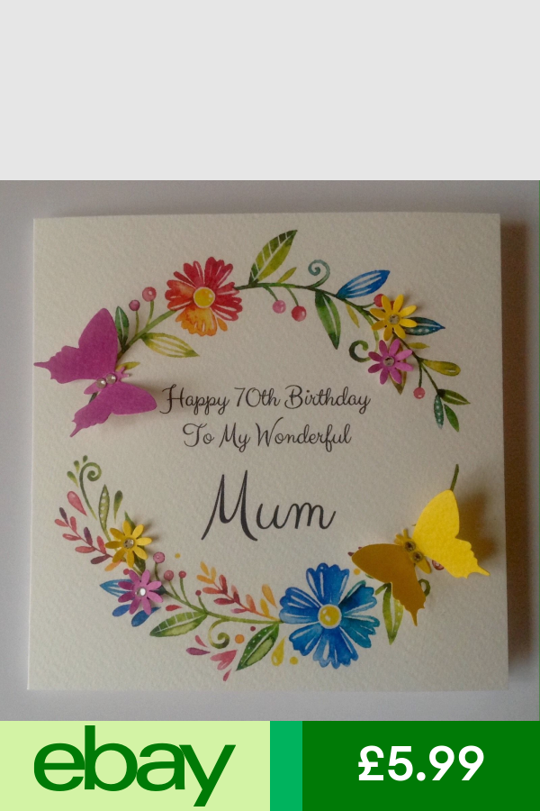 Personalised 50th 60th 70th 80th 90th 100th Birthday Card Mum Nan Auntie Nanny 90th Birthday Cards 70th Birthday Card 100th Birthday Card
