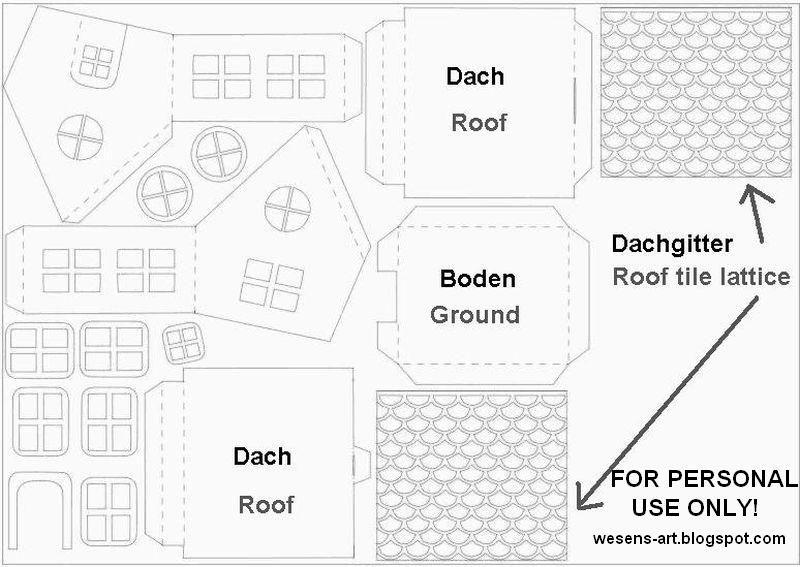 wesens art papier haus paper house imprimibles pinterest bastelsets bastelbogen und. Black Bedroom Furniture Sets. Home Design Ideas
