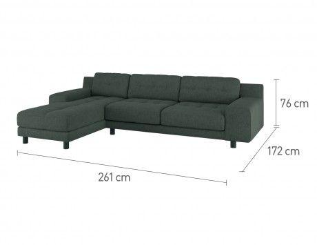 Hendricks Emerald Green Velvet Left Arm Chaise Sofa In 2019 Lounge Chaise Sofa Sofa Green Velvet