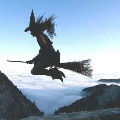 Bruja Brujas Volando Brujas Arte De Halloween