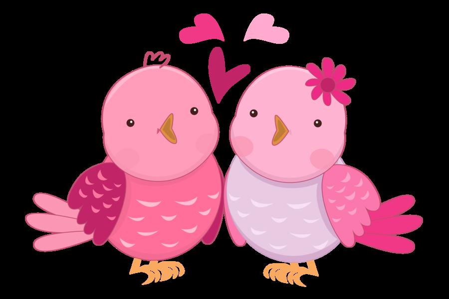 Bird Clipart Cute Birds Pink Bird