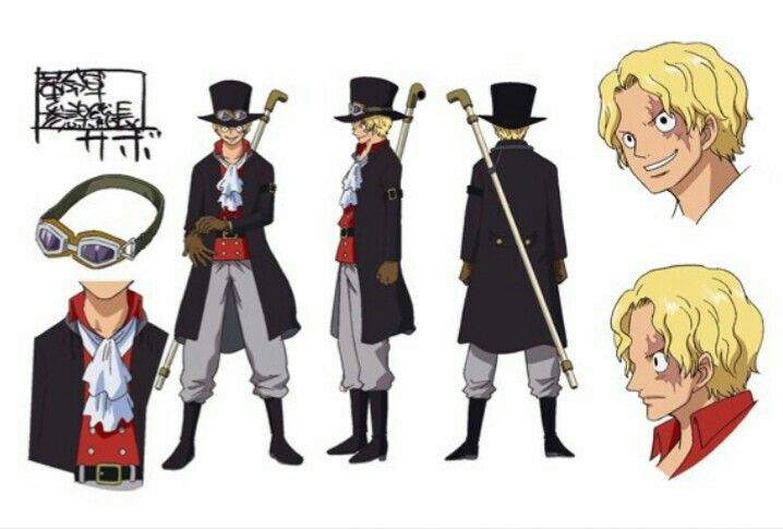 One Piece Film Gold Sabo Sheet Character Design Official