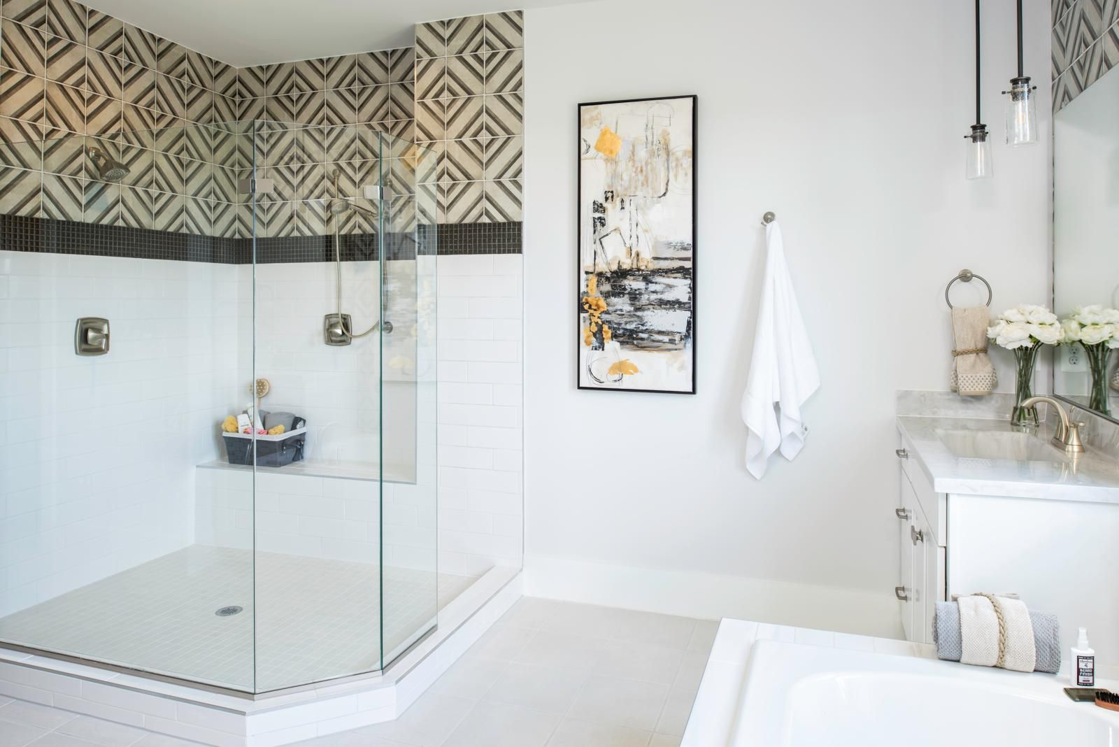 Drees Homes Rowan Master Bathroom With Glass Shower With Images