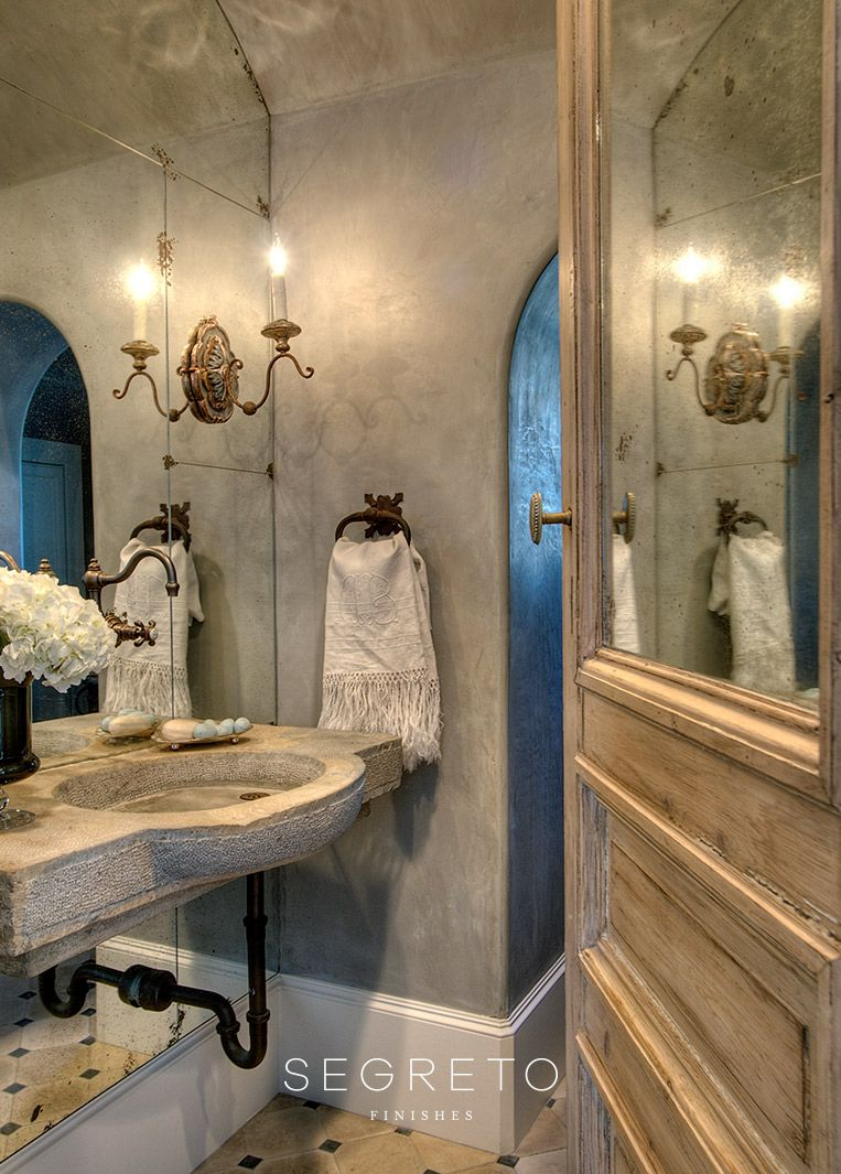 Segreto Finishes Gallery Venetian Plaster Walls French Country Bathroom Beautiful Bathrooms