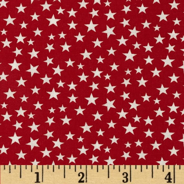 This cotton print fabric is made in the USA and perfect for quilting, apparel and home decor accents. Colors include red and white.
