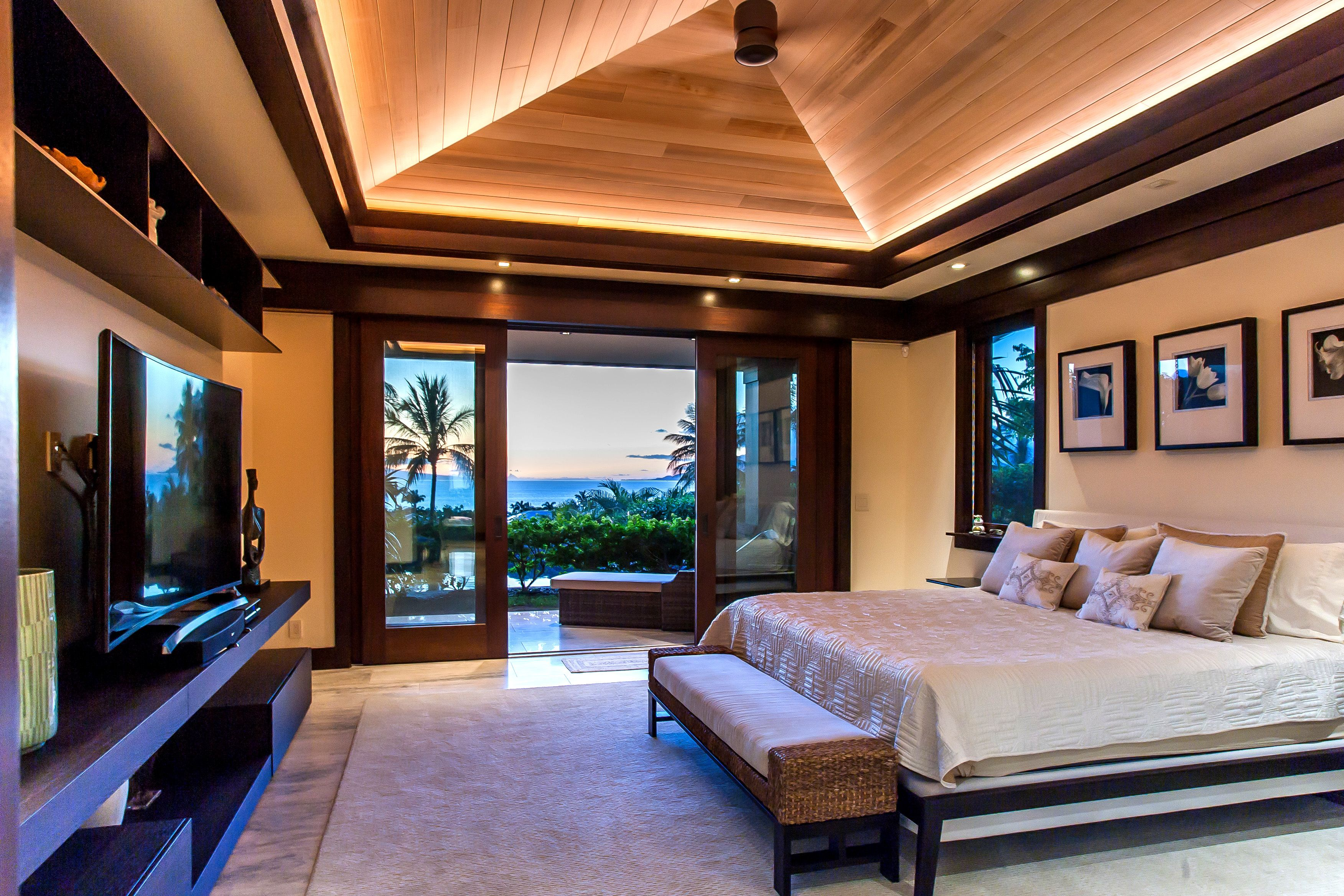 Master Bedroom Vaulted Wood Ceiling Wood Ceilings House Dream House
