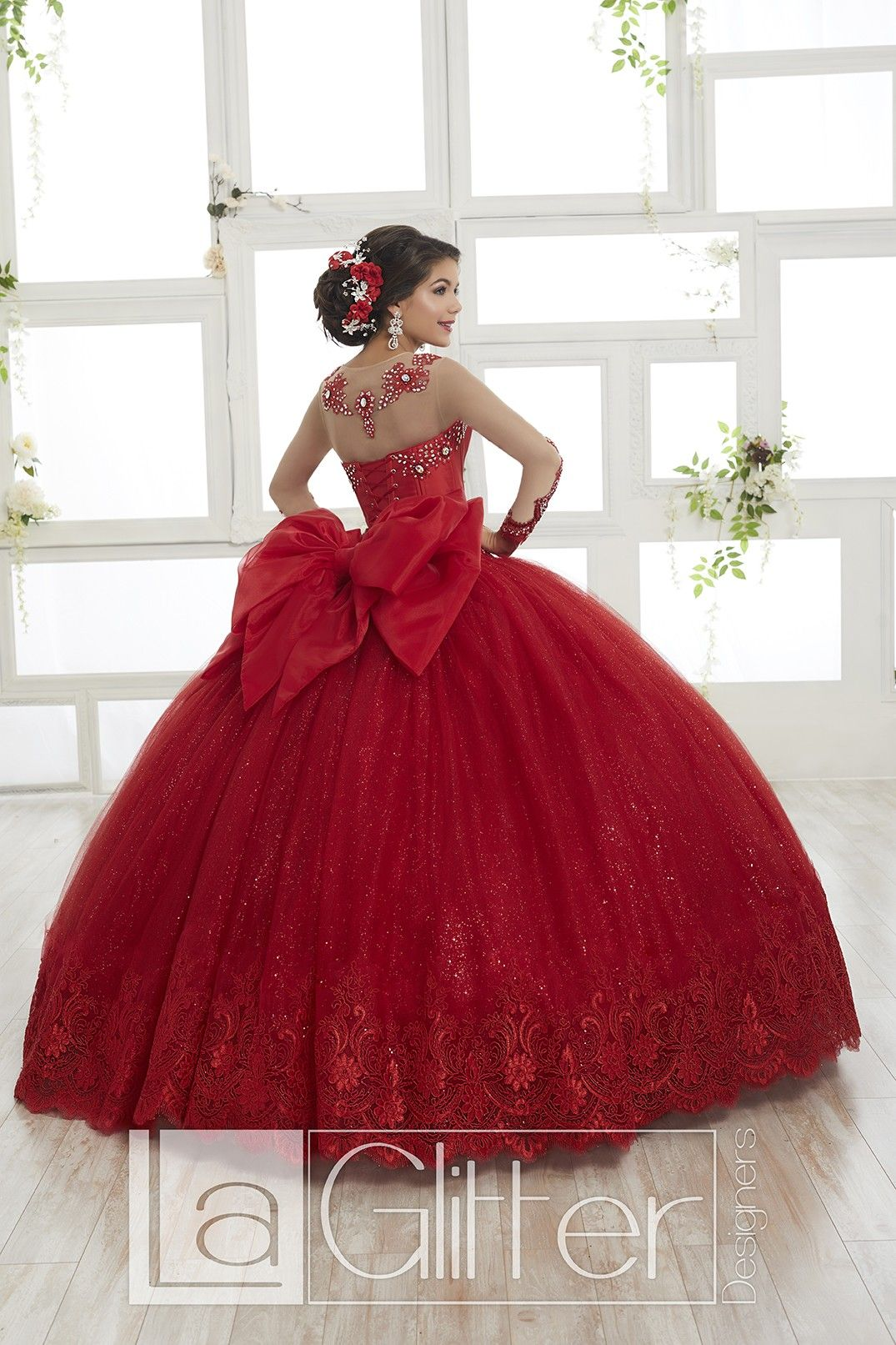 House Of Wu 24020 Long Sleeve Quinceanera Dress Red Quinceanera Dresses Pretty Quinceanera Dresses Quinceanera Dresses [ 1613 x 1075 Pixel ]
