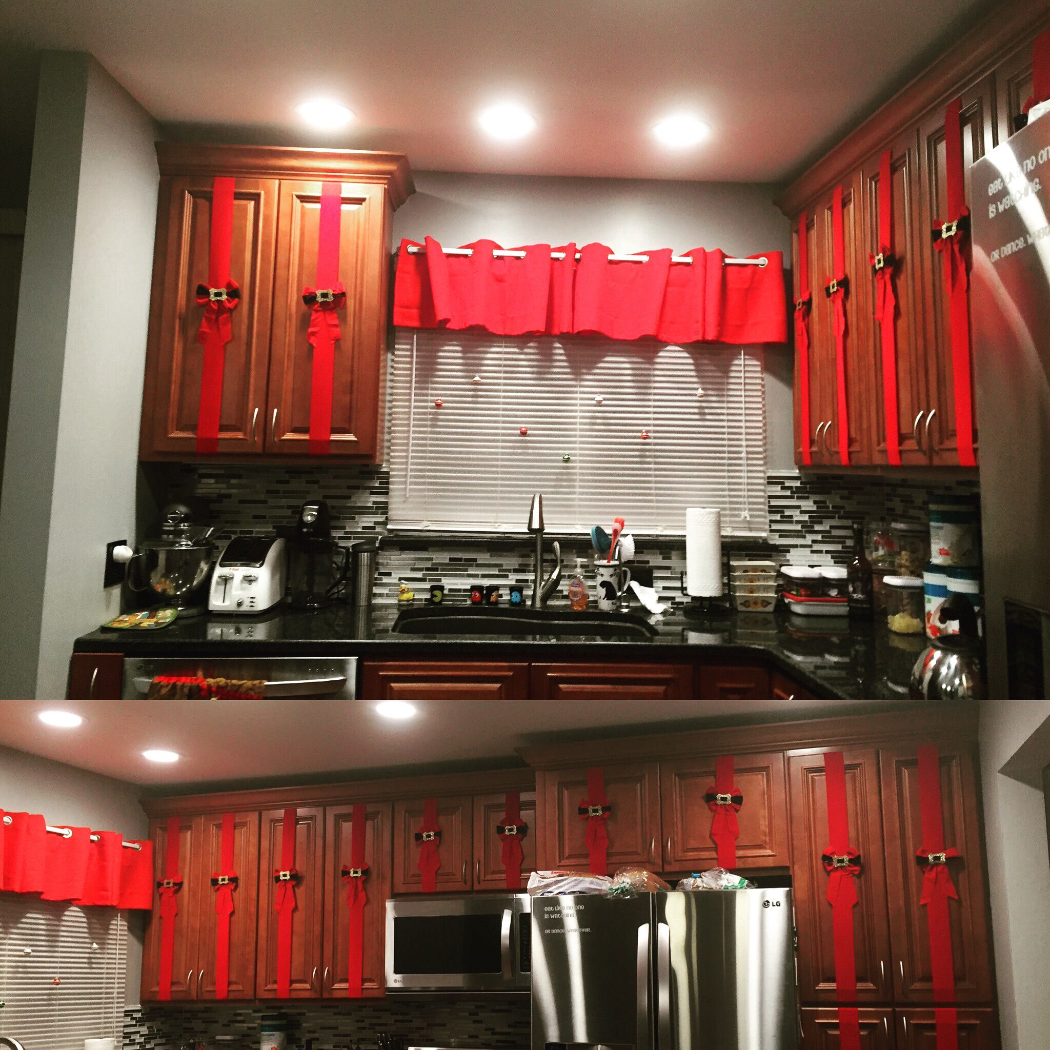 Kitchen Cabinet Christmas Decorating Ideas: Interior Christmas Cabinets Kitchen Decorations
