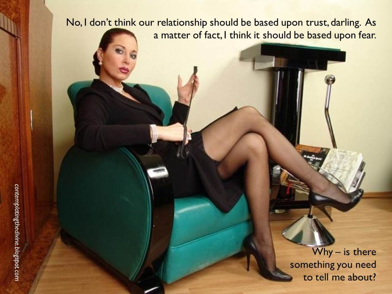 Captioned Femdom Situations | Awesome | Pinterest
