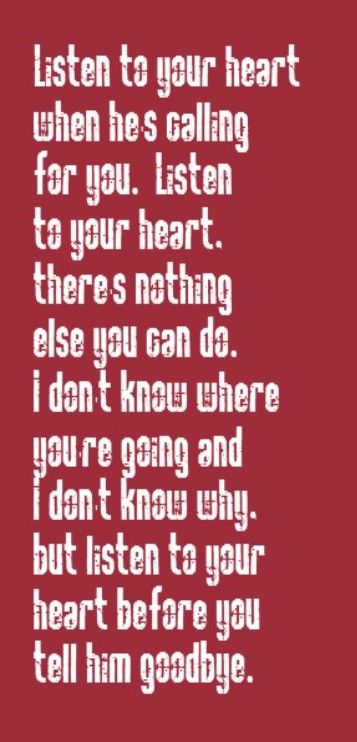 Roxette Listen To Your Heart Song Lyrics Song Quotes Music