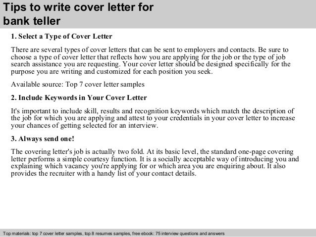 tips write cover letter for bank teller select writing resume - bank teller job description