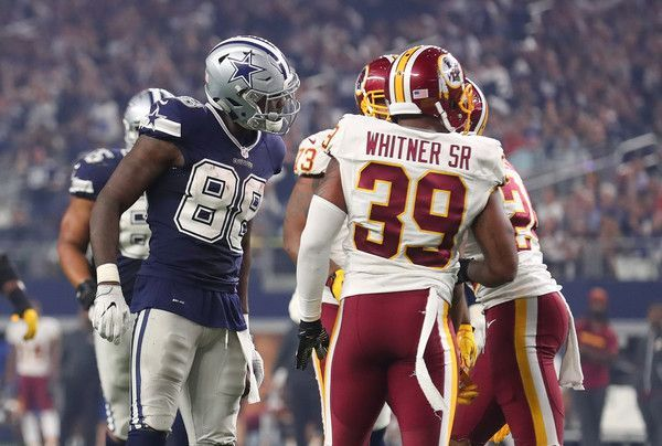 Dez Bryant Photos Photos: Washington Redskins v Dallas Cowboys #dezbryant Dez Bryant Photos Photos - Dez Bryant #88 of the Dallas Cowboys argues with Josh Norman #24 of the Washington Redskins after catching a pass during the fourth quarter of their game at AT&T Stadium on November 24, 2016 in Arlington, Texas. - Washington Redskins v Dallas Cowboys #dezbryant