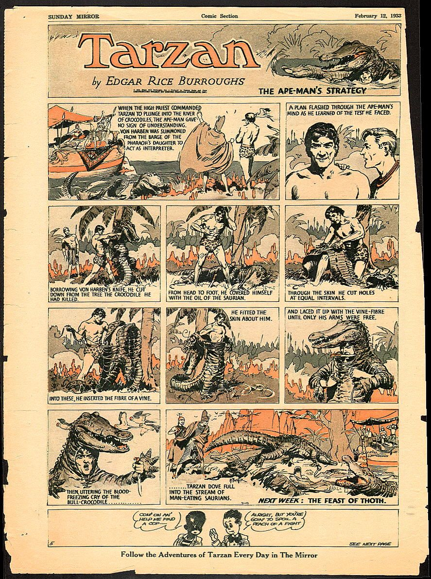 Tarzan Was Created By Edgar Rice Burroughs And First Appeared In The 1912 Novel Tarzan Of The Apes And Then In Tarzan Newspaper Comic Strip American Comics