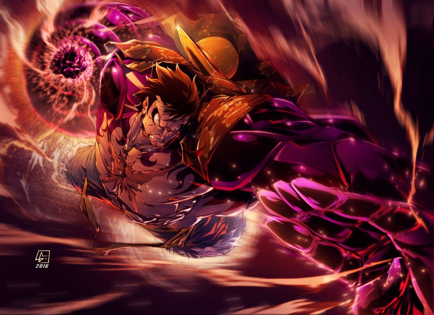 During those 6 months, luffy probably developed it then. Gear 4th Luffy by Luis Figueiredo. | Luffy gear4, One ...