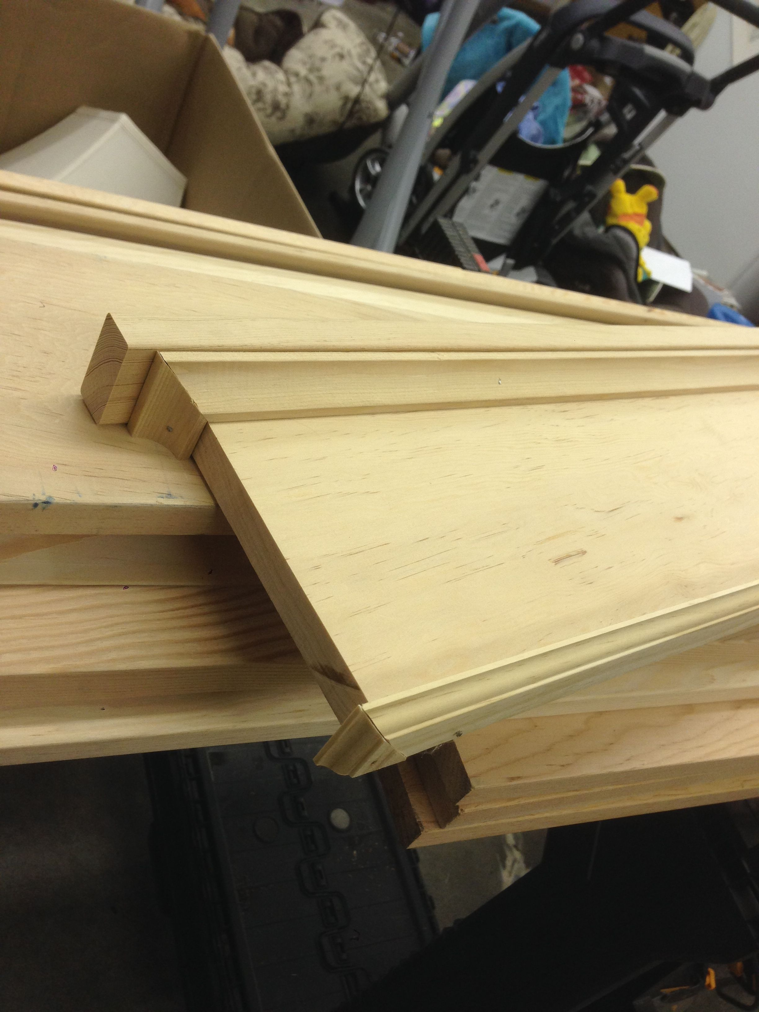 Craftsman Window Trim Made From Common Douglas Fir Boards. Craftsman  Headers Are 8 Pieces Each