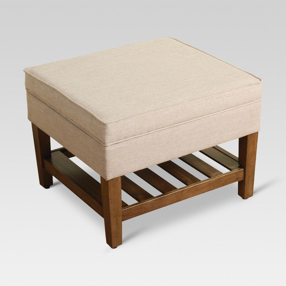 Fine Newtown Storage Ottoman With Wood Slats Taupe Threshold Theyellowbook Wood Chair Design Ideas Theyellowbookinfo